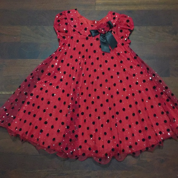 Bonnie Jean Other - Girls' 7 Pleated Polka Dot Party Dress
